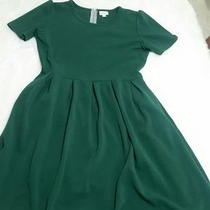 LuLaRoe Amelia dress green xl NWOT